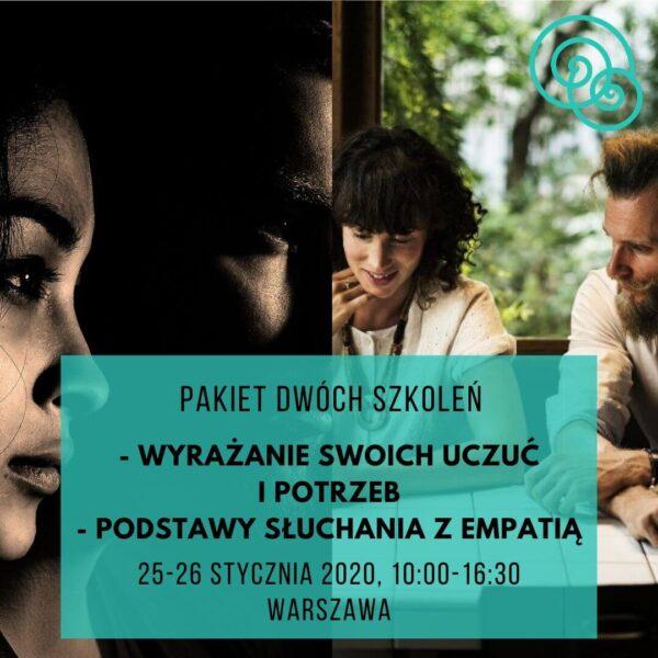 Pakiet dwóch szkoleń Wyrażanie swoich uczuć i potrzeb i Podstawy słuchania z empatią – NVC Warszawa