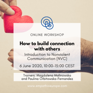 How to build connection with others – online workshop