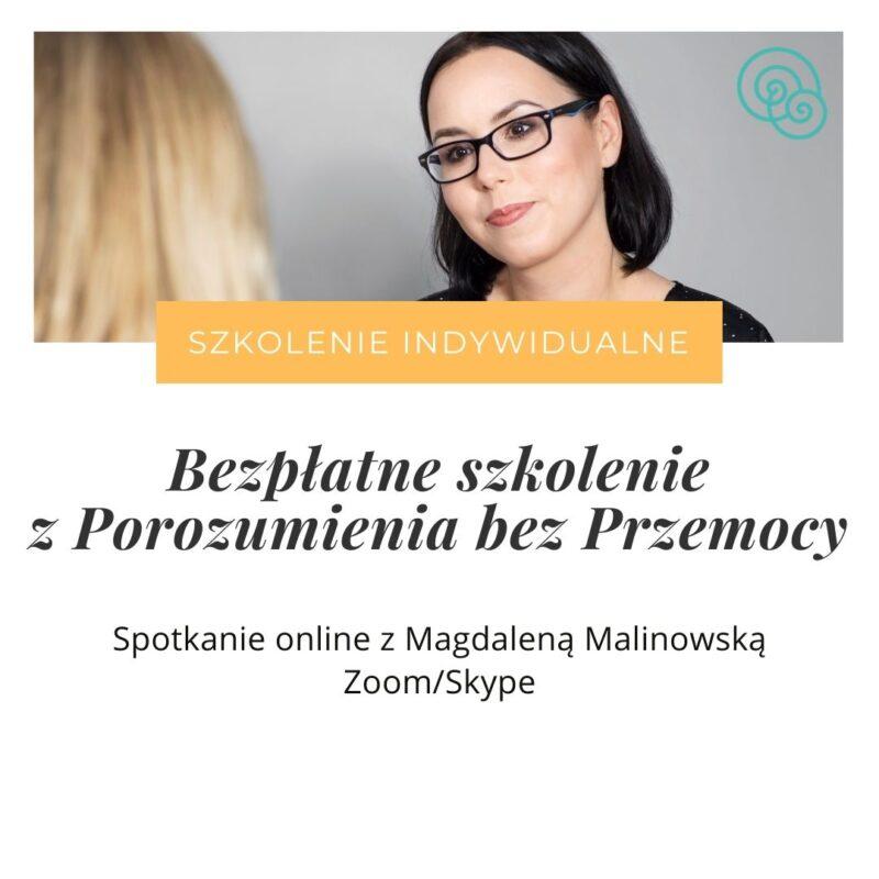 Bezpłatne szkolenie indywidualne komunikacja empatyczna Porozumienie bez Przemocy NVC Empathic Way Online Magdalena Malinowska