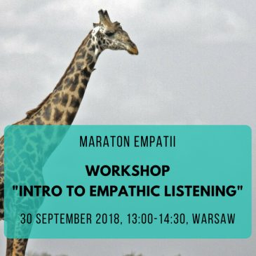 Maraton Empatii: Intro to empathic listening