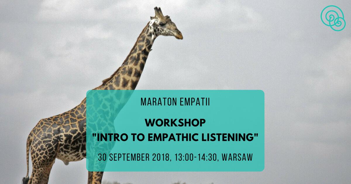 Intro to empathic listening Maraton Empatii