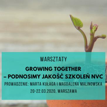 Growing together – podnosimy jakość szkoleń NVC